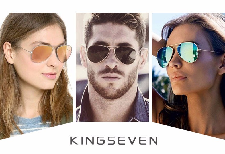 58mm Retro Sunglasses Women Kingseven Luxury Brand Female Sun glasses For Women 16 Fashion Oculos Designer Shades Unisex 3025 4