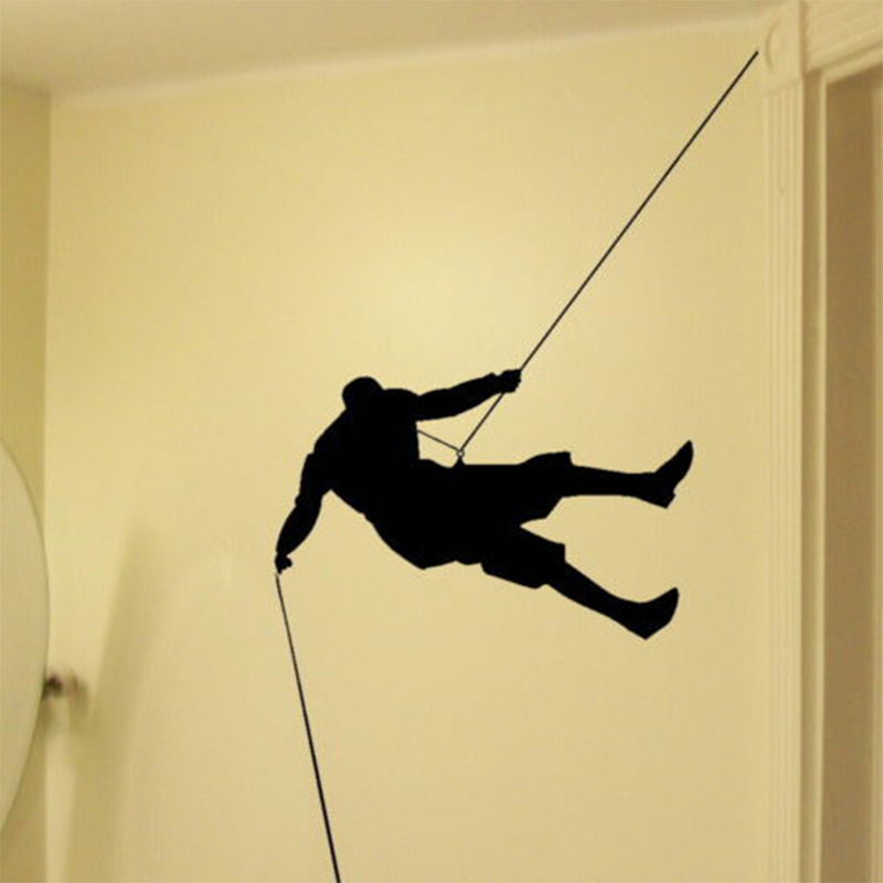Rock Climbing Sport Vinyl Decal Stylish Wall Art Decor Wall Sticker ...