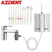 Irrigador oral com escova de dentes, torneira da moda com 10 bicos, limpador de língua, jato de água portátil, irrigação por fio dental