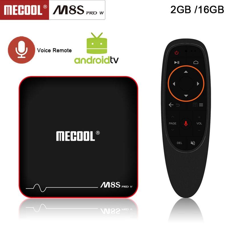 Mecool M8S PRO W font b TV b font Box 2 4G Voice Control font b
