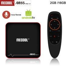 Mecool M8S PRO W TV Box 2.4G Voice Control TV Box S905W smart tv box / Android 7 .1.1 4k android tv box PK TX3 MINI X96 MINI
