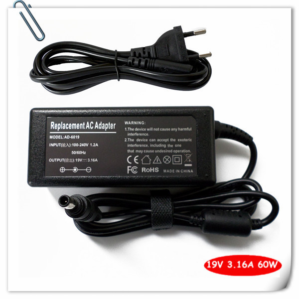 Power Supply Cord 60W AC Adapter for Samsung NP-QX410 NP-QX310 NP-R480 NP-R580 NP-R580-JSB1US R580-JSB1 Laptop Charger Plug