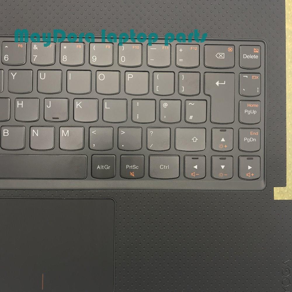 For Lenovo Ideapad Yoga 3 Pro 13 1370 US English Black Cover Palmrest backlit