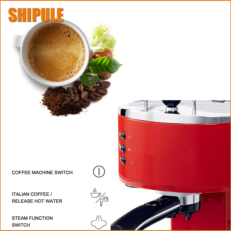 New Coffee Machine home office Semi-automatic Italy Type Cappuccino Espresso Coffee Maker/coffee printer/coffee grinder hot sale
