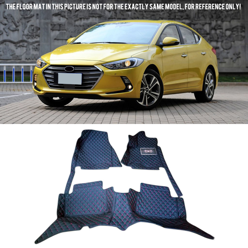 New Arrival !  For Hyundai Elantra Avante the Sixth generation 2016 2017  Accessories  Inner Car Floor Mats Accessories Foot Pad free shipping leather car floor mat carpet rug for hyundai elantra avante i35 fifth generation 2011 2015