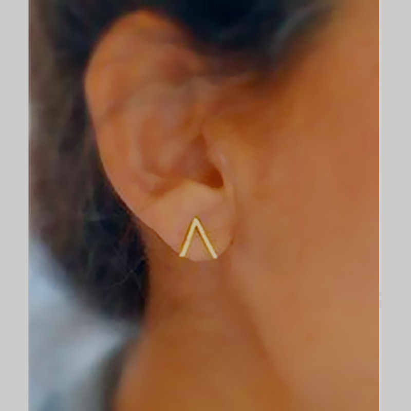 New vintage jewelry simple easy bar stud Gold color for women girl e070