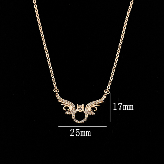 GORGEOUS TALE 10PCS Gold Chain Necklace Modern Lady Jewelry Necklaces Men Wings Pendent Necklace Womens Jewelry Accessories