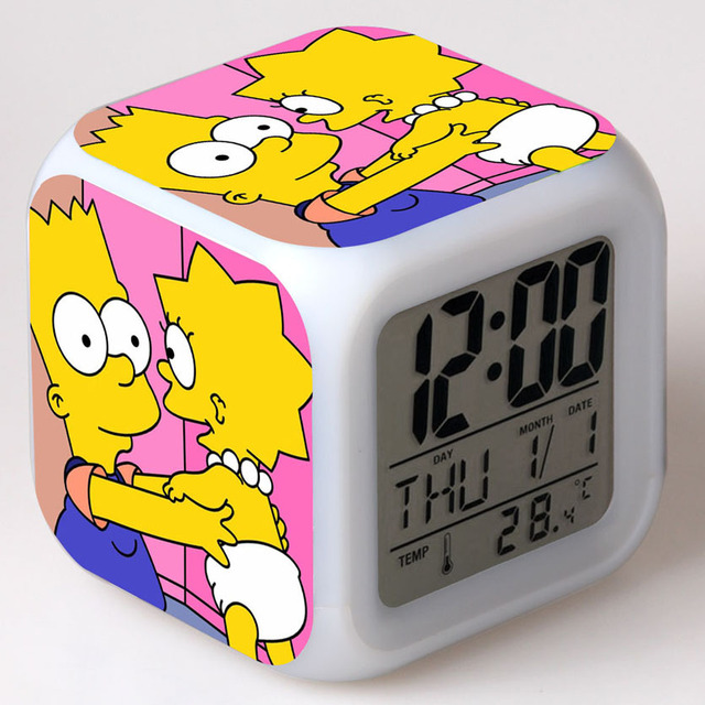 The Simpsons Digital Alarm Clock Kids Bedoom