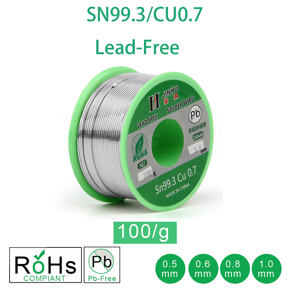100g Lead free Solder Wire 0 5 1 0mm Unleaded Lead Free Rosin Core for Electrical