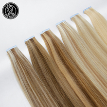 Fairy Remy Hair 2.0g/pc 16 100% Real Straight PU Skin Weft Human Extension Glue on Extensions Seamless Tape ins