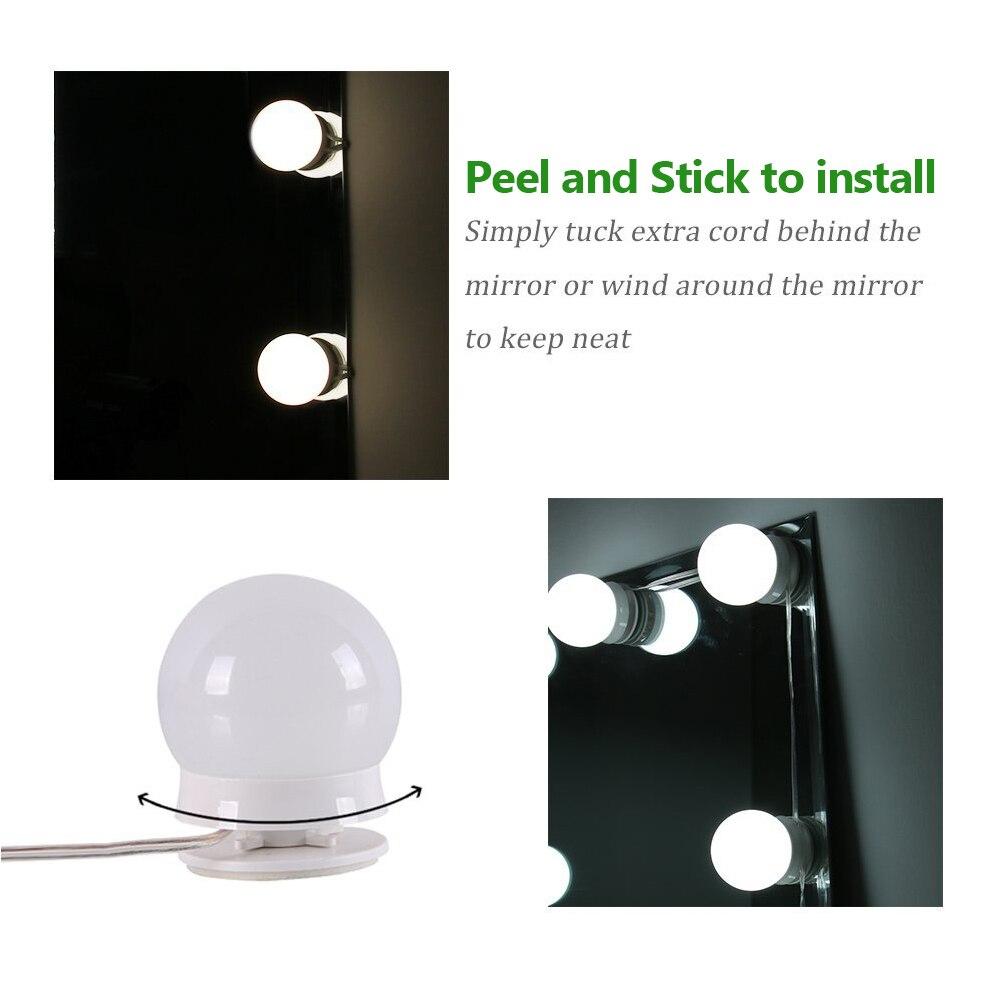 Compõem o jogo das lâmpadas do diodo emissor de luz da vaidade do espelho