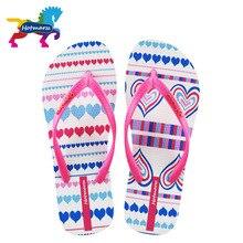 女性の浜の靴ハート愛のスリッパ夏のフリップは、女性の家のスリッパフラットサンダルファッションスライド Hotmarzz
