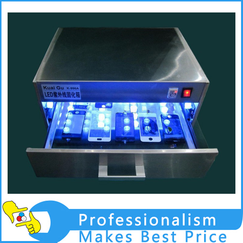 96W LED UV Curing Lamp UV Curing Box Oven UV glue dryer 110V-240V for LCD screen refurbishment ...