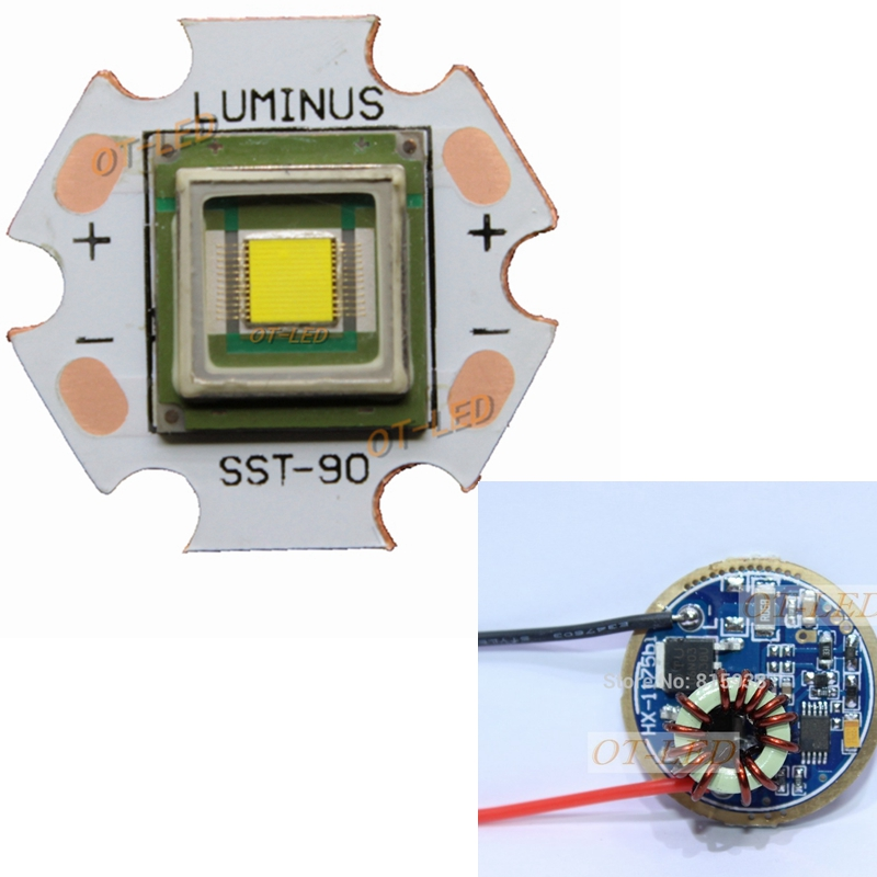 все цены на 1PCS Luminus SBT-90 30W LED Emitter 2500LM White 6500K Module PCB 20mm Copper +SBT-90 LED Driver Board онлайн