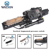 Softair Weapon Light & Laser Pointer Remote Pressure Switch Outdoor Hunting Scout Flashlight PEQ 16A remote Dual switch WNE04040