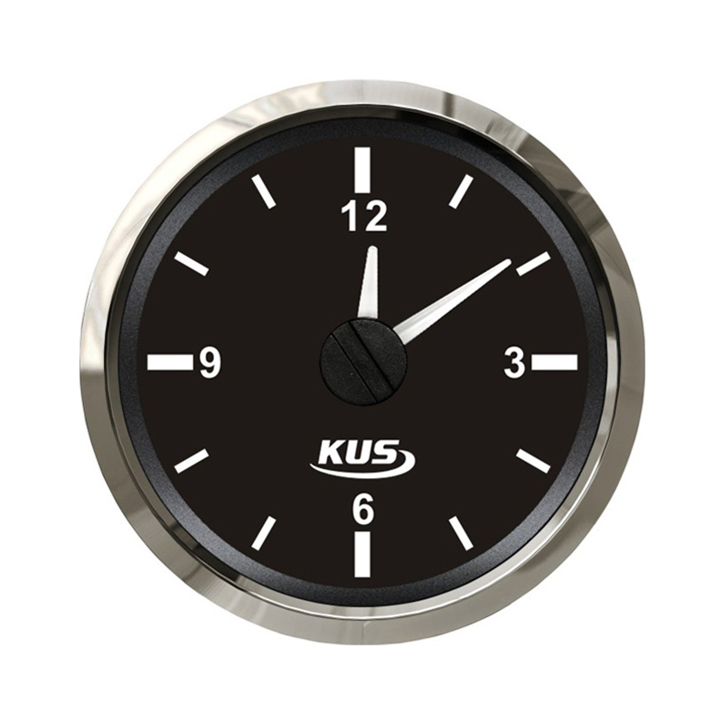Kus D52mm Clocks Schedule Hours Gauge 12/24V For Shipping Sailing Marine Which Car Trailer Truck Machinery Accessories kus 52mm digital hour meter 12 24v for car marine general yacht motor boat trailer accessory ky3900