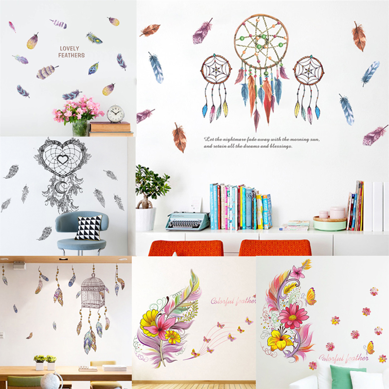 Home Decor Spirited Flower Vine Wall Stickers Home Decor Wardrobe Fridge Magnet Stickers Waterproof Removable Wall Stickers For Bedroom Living Room Home & Garden
