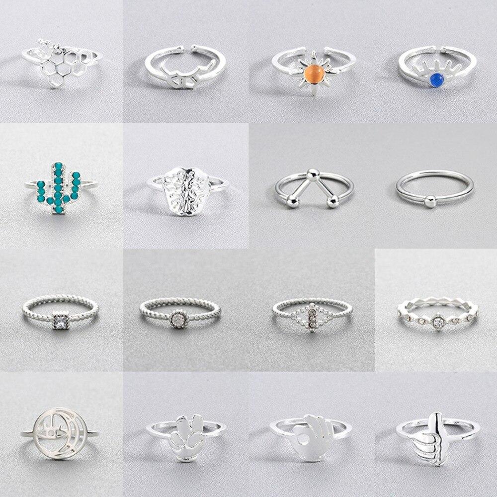 Todorova Fashion Finger Rings Fo Men Cactus Sunflower Molecule Brain Rings For Women Jewelry Christmas Gift
