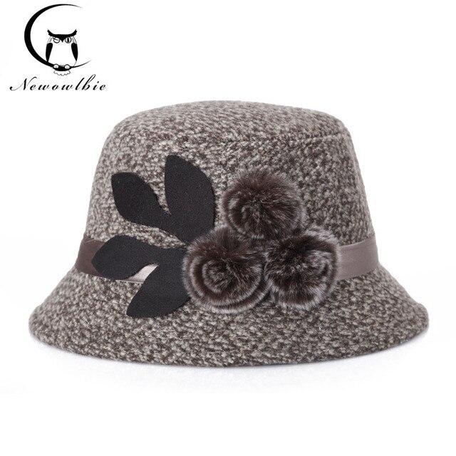 2018 Cappelli Invernali Cappello di Lana Signora Coreana Anziana Madre Per  Conto di Un Modisteria Protezione dc7c70bbec4d