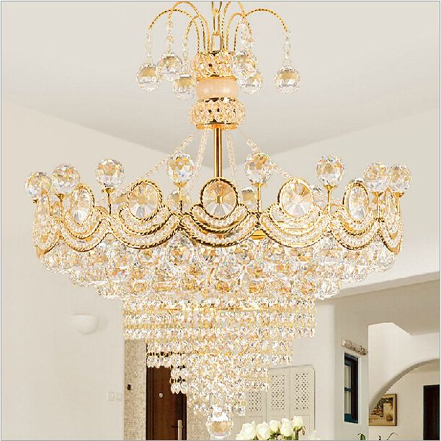 Free shipping led lamp delivery crystal chandelier creative l free shipping led lamp delivery crystal chandelier creative l bedroom dining room light gold color round aloadofball Images