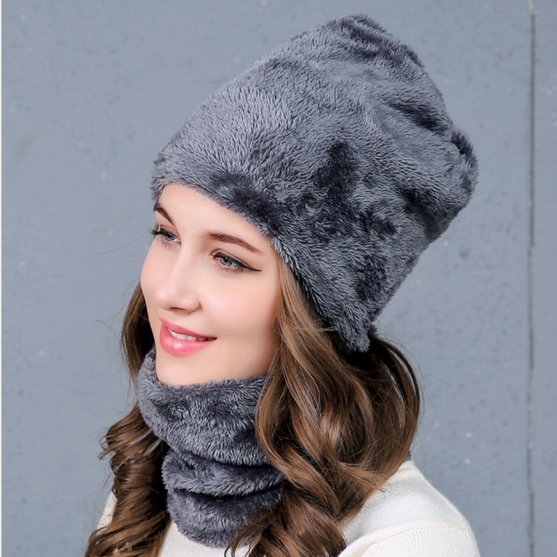 36f9a6ae1 Balaclava Women's Knitted Hat Scarf Caps Neck Warmer Winter Hats For Men  Women Skullies Beanies Warm Fleece Cap 6 Colors