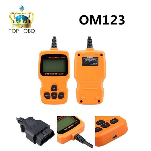 Autophix OM123 OBD2 EOBD CAN ручной Анализатор Двигателя Code Reader Русский Португальский Авто Scan Tool Автомобильная Сканер