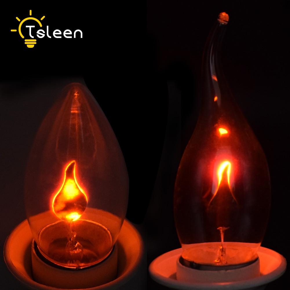 Flickering Flame Edison Bulbs 220V Bathroom Kitchen Candle Tail  Lights E27 Energy Saving Light Bulbs Vintage