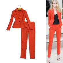 Женский офисный костюм из двух предметов элегантный пиджак и