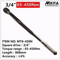 Mxita 3/4 drive 65 450Nm Adjustable torque wrench Set Car Auto repair tools hand tool set