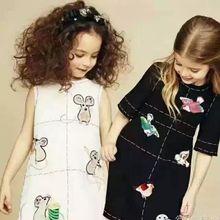 Суперзвезда Платья Девушки Зима Одеяние Fille Enfant Платье Принцессы Малыш Платье Девушки Мыши Шаблон Дети Платья для Девочек Одежда