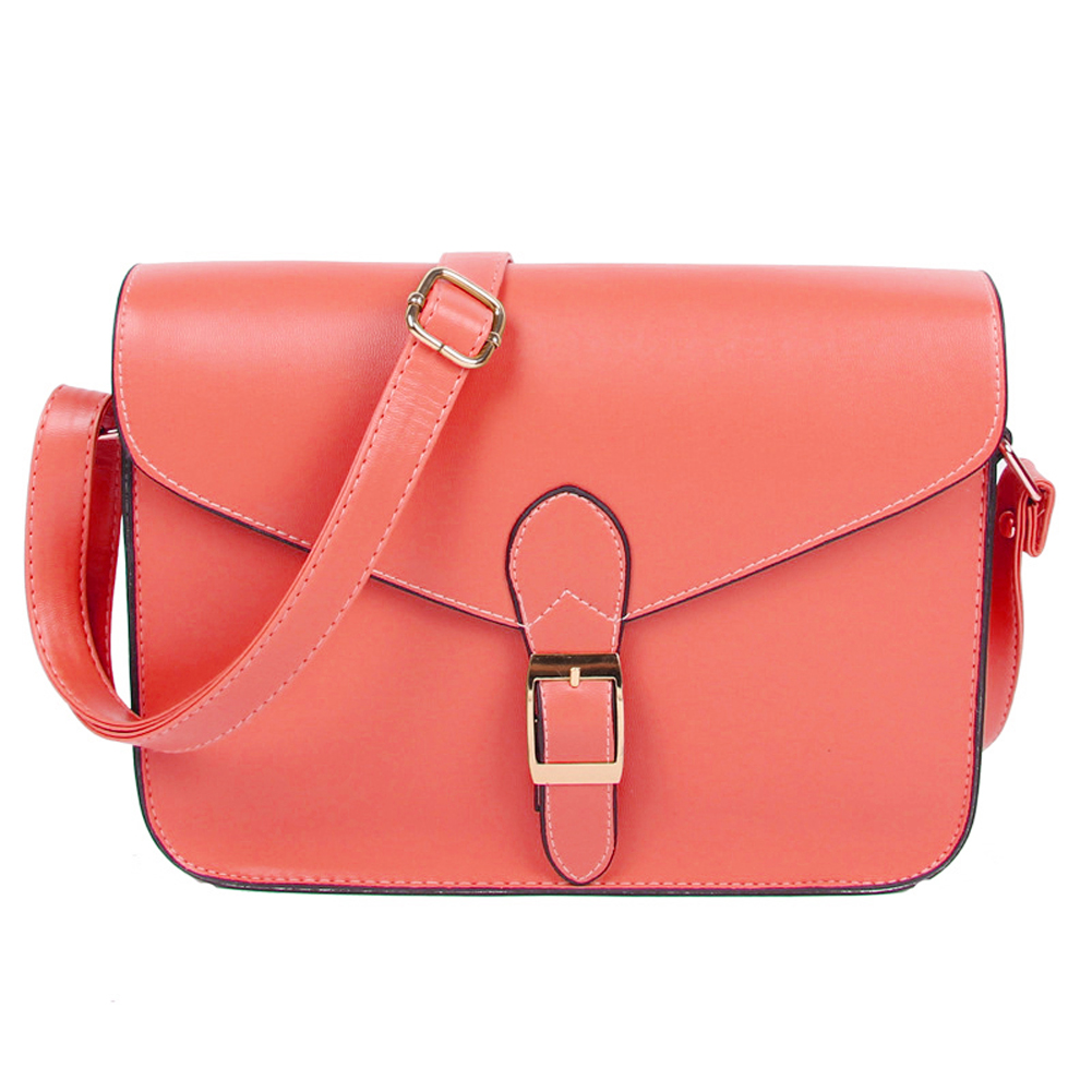 Womens handbag messenger bag preppy style vintage envelope bag shoulder bag high quality briefcase watermelon red