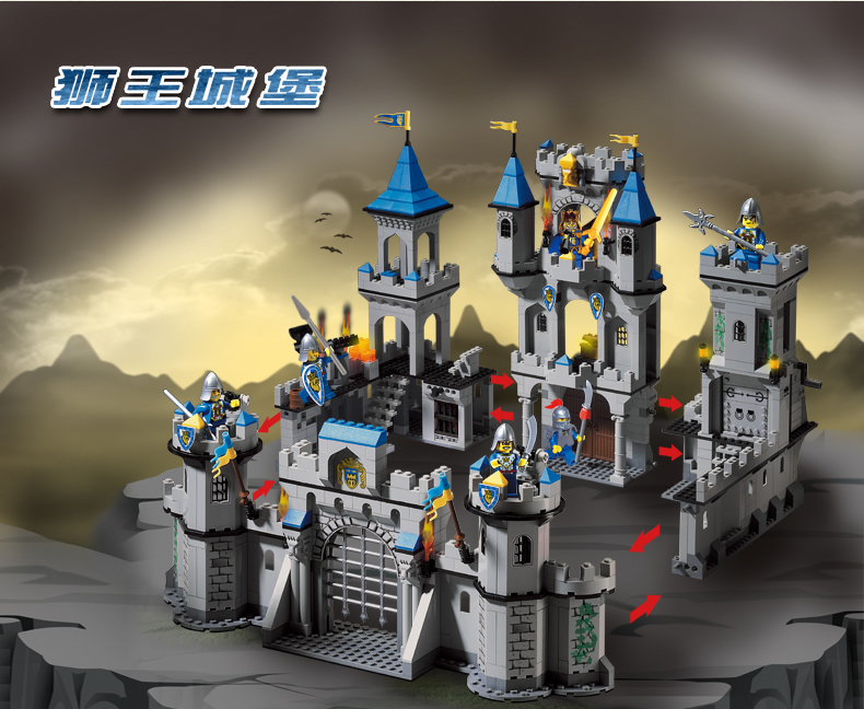 building block set compatible with lego castle 1393+PCS Extra large 3D Construction Brick Educational Hobbies Toys for Kids loz mini diamond block world famous architecture financial center swfc shangha china city nanoblock model brick educational toys