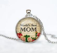 World's Best Mom Glass Dome Pendant
