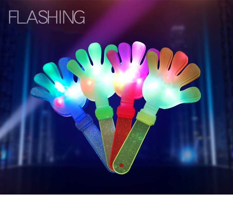 30pcs Concert Clap Luminous clap Hand Clap Toy Palms Hand Light Stick Palm Flashing Party Glow