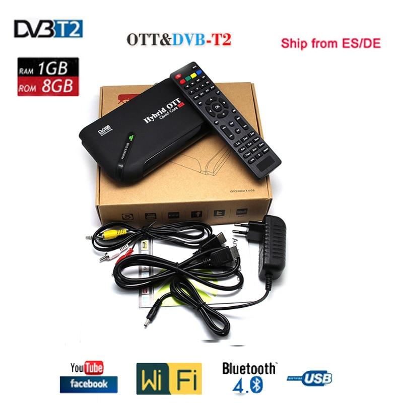 все цены на Android 7.1 1GB+8GB DVB-T2 Amlogic S905D Quad Core 4K Media player TV Box support Bluetooth DLNA DVB-T2 Satellite Receiver онлайн
