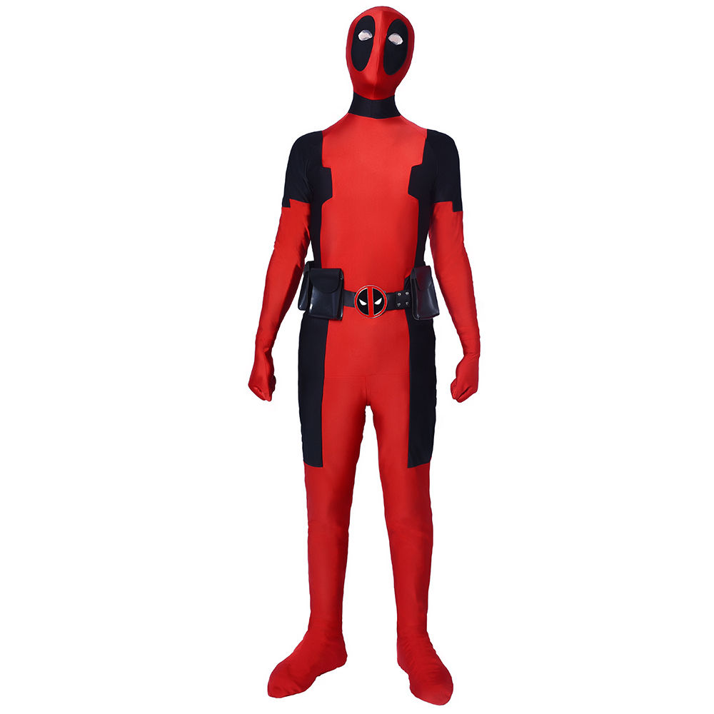 Marvel Deadpool Cosplay Costume Superhero Zentai Spandex Adults Fullbody Jumpsuit New