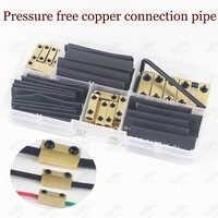Conector rápido não pressurizado do terminal da conexão de friso do parafuso da junção 10a 20a 60a da extremidade do fio da tubulação de conexão do cobre
