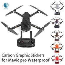 7 Цвет Водонепроницаемый углерода Графический Наклейки для dji Мавик Pro Цвет ful кожи наклейки для Drone Средства ухода за кожей/Дистанционное управление/ батарея/arm