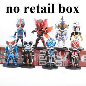 Image 3 - 8 шт./лот 8 см 13 го поколения экшн фигурка Райдера в маске Kamen Rider анимационная фигурка офисная рука ПВХ модель игрушки куклы подарок украшение