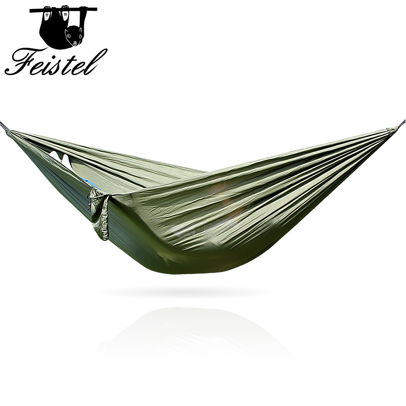 NEW Portable Outdoor Camping Holiday Beach Outdoor Parachute Cloth  2 People  Hammock 260*140 Cm  Can Hold 300 Kg