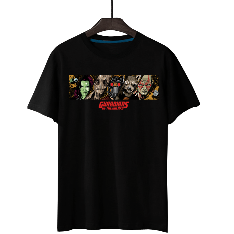 2018 Hot Movie Guardians of the Galaxy Gamora 3D Print 100% Cotton Men T-shirt Loose Quality Comfortable Homme Fans Top