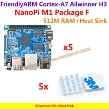Allwinner H3, Quad-core Cortex-A7@1.2GHz NanoPi M1 Демо Доска (512 М) + Теплоотвод = NanoPi M1 Пакет F (Работать u-boot, Ubuntu-MATE, Debian)