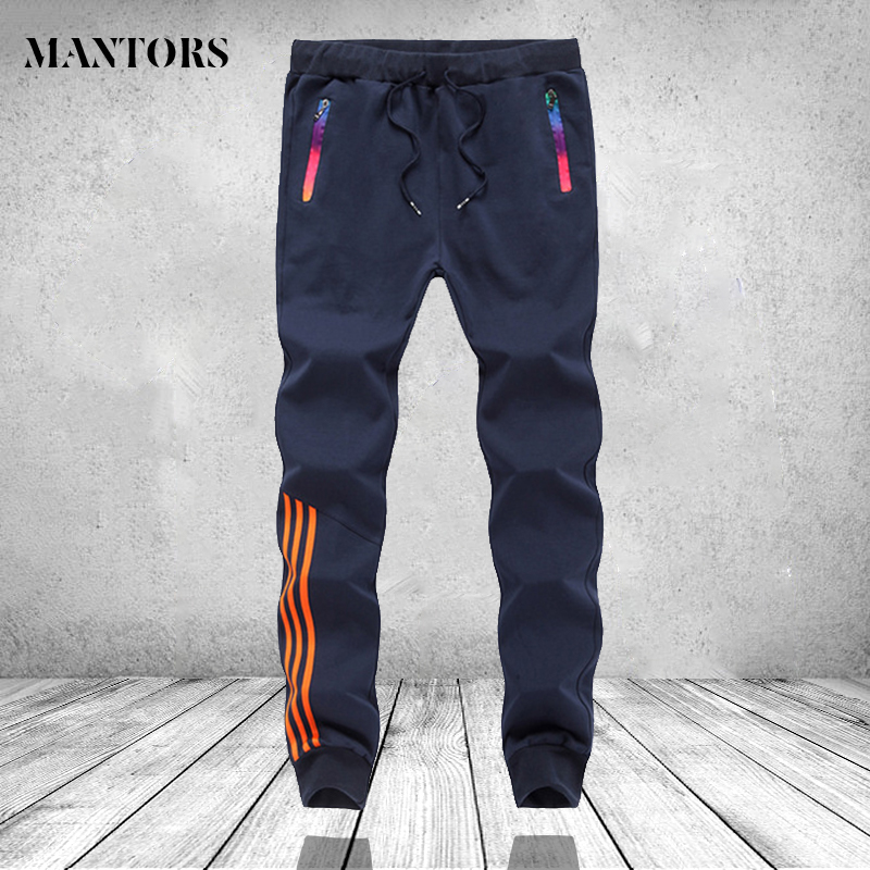 Men Joggers Fitness Casual Pants Mens Brand Clothing Elastic Waist Striped Male Trousers Mens Joggers Sweatpants Plus size 4XL