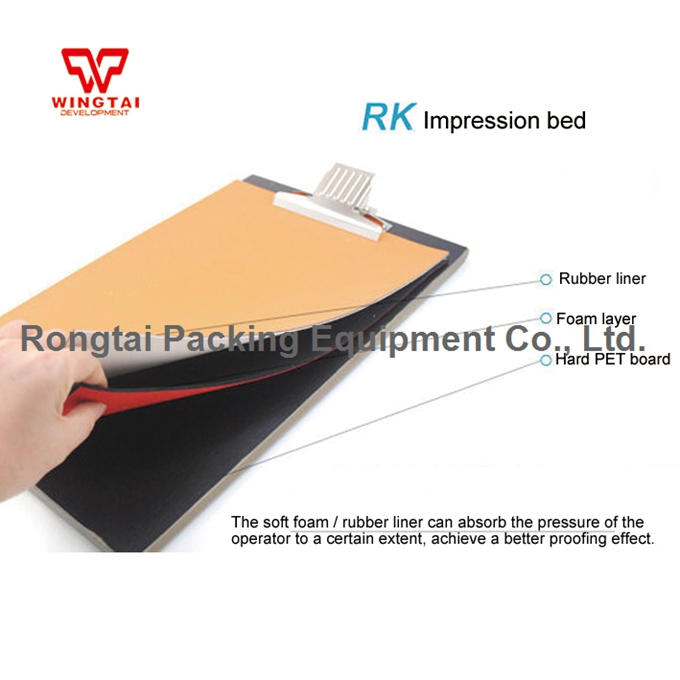 24*34mm UK RK PET,Foam,Rubber Impression Bed Drawdown Plate Board KHC.21 For Hand Coater