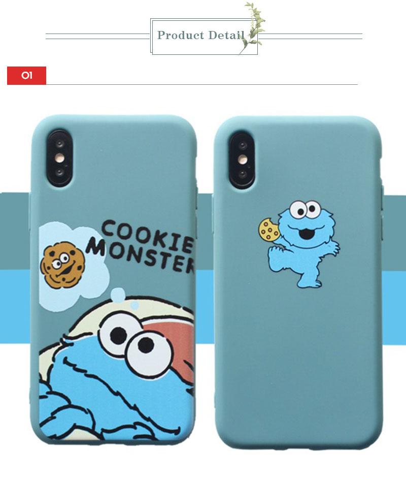 Sesame Street Case For iPhone 8 8plus 7 7 Plus Cases Silicone Phone Case For iphone 6 s 6s Plus X XR XS Max Cases Cover Coque    (15)