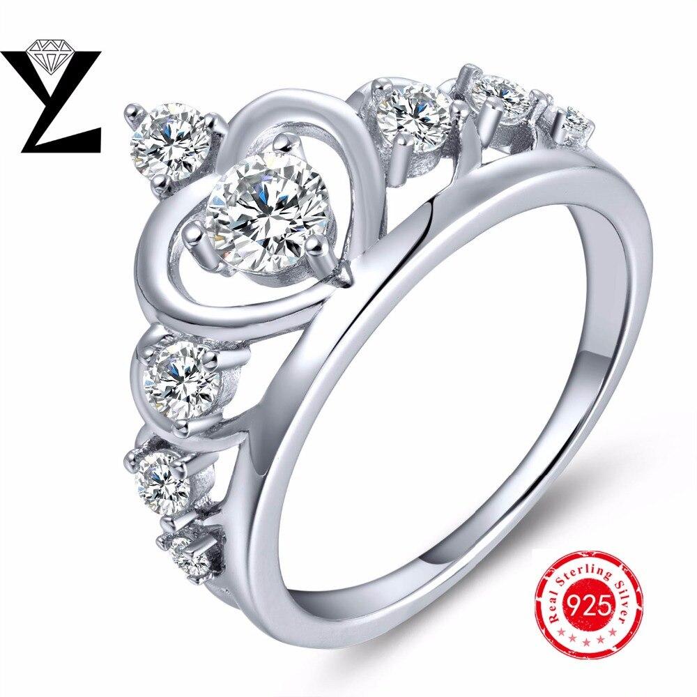 Groothandel Prijs! 925 Sterling Zilveren Anillos Kroon