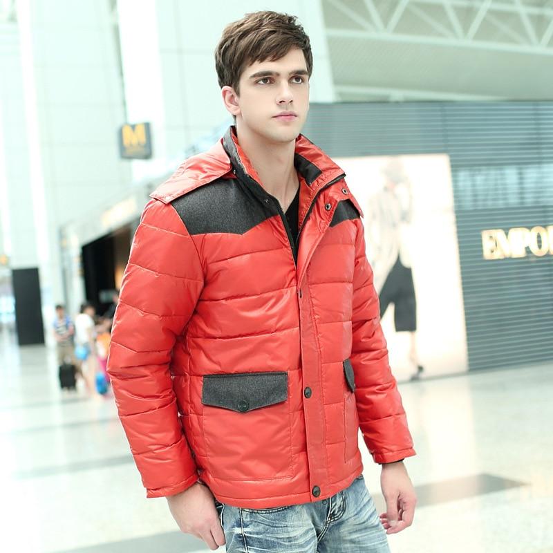 Большой размер(бюст 160 см) мужской большой размер мужской пуховик зимний белый утиный пух - Цвет: DLYR485 red