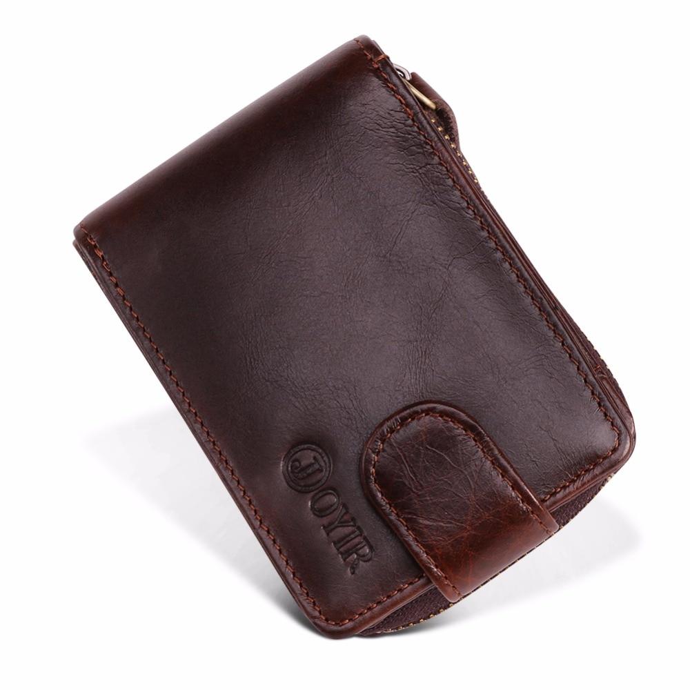 JOYIR Credit Card Id Holders Wallet Genuine Leather Men Business Cards RFID Wallet High Capacity Credit Holder Purse Porte Carte