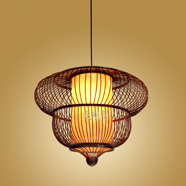 Chinese bamboo cage pendant lamps Hotel Restaurant Club teahouse Cafe creative personality Southeast pendant lights ZA ZL488 chinese bamboo pendant lights character living room restaurant aisle hotel club hot pot chinese creative pendant lamps za