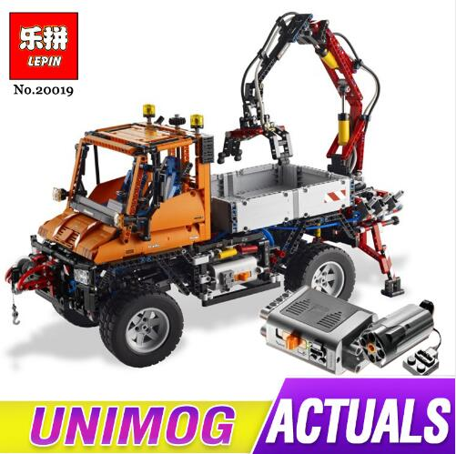 цена 2017 New LEPIN 20019 2088Pcs Technic Truck Unimog U400 Model Building Kits Blocks Bricks Compatible Toys 8110 for children gift